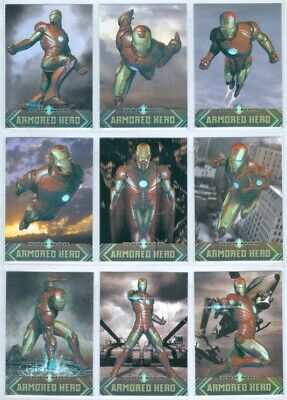 Iron Man 2 Complete Actors Die Cut Chase Card Set AH1-9