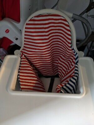 IKEA Antilop High Chair with blow up cusion and Removeable Feeding Tray White