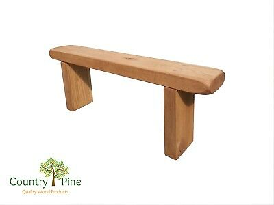 Rustic Solid Oak Bench | Garden Hallway Kitchen Dining | Country Home Style