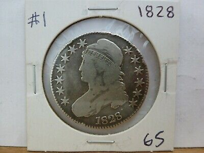 1828 Capped Bust Silver Half Dollar #1