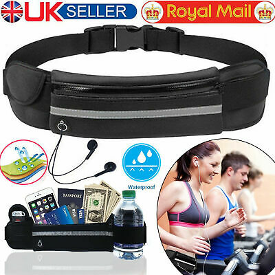 Unisex Running Belt Men Women Waterproof Jogging Bum Bag Waist Travel Case