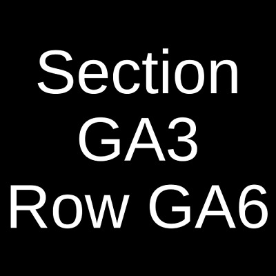 4 Tickets The Killers 7/9/19 The Colosseum At Caesars Windsor Windsor, ON