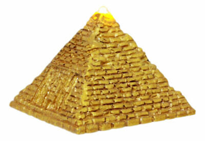 "Ebros Small Golden Ancient Egyptian Giza Golden Pyramid Figurine with LED 1.75""H"
