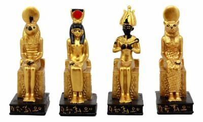 Ebros Egyptian Gods Horus Osiris Sekhmet And Isis Seated On Thrones Figurine Set