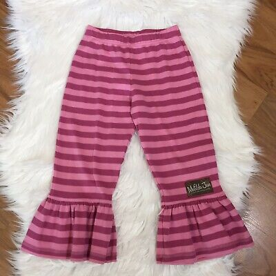 Matilda Jane Pink And Purple Stripe Pants With Ruffle/Bell At Leg Opening, 4