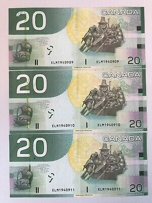 2004/2009  Bank of Canada $20 Bank Notes (Birthday Number)