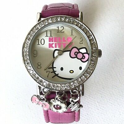 1ba3069f5 HELLO KITTY WRIST Watch ~ Sanrio ~ Rhinestone Bow ~ Quartz Watch ...