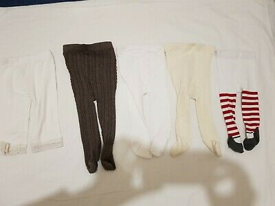 Girls baby infant 4 tights and 1 pair of pyjama trousers. Bundle of 5 items