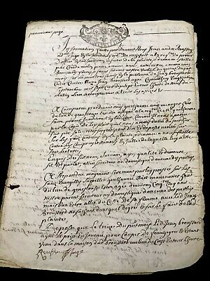 1717 RARE Signed and Handwritten Document