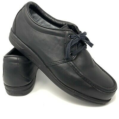 29fe831b9ea55 RED WING MEN'S 10 EEE Black Leather Steel Toe Oxfords Safety Work Shoes USA  6604