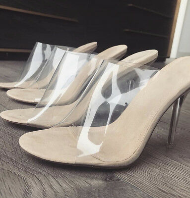 70b42a7357e {RESTOCKED BEST SELLER} Yeezy inspired clear pvc mules