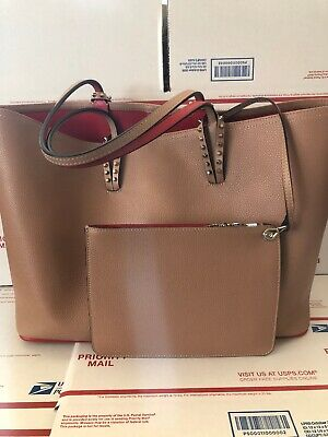 7eafadf1b8c Christian Louboutin Cabata Calf Empire/Calf Leather Spike Tote Bag
