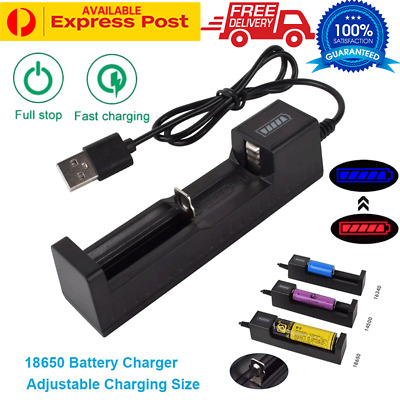 USB Lithium Battery Charger For 17670 18350 18490 18650 22650 26650 Battery AU