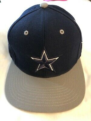 886f4ed33f6184 Dallas Cowboys NFL Gray Blue Cap Hat Mitchell & Ness Adjustable Vintage Star