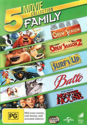 NEW 5 Family Movie Collection DVD Free Shipping