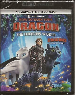 HOW TO TRAIN YOUR DRAGON 3: The Hidden World 4K ULTRA HD + BLU-RAY NEW 2019
