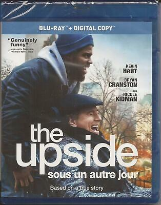 THE UPSIDE BLU-RAY + DIGITAL Kevin Hart Bryan Cranston Nicole Kidman NEW 2019