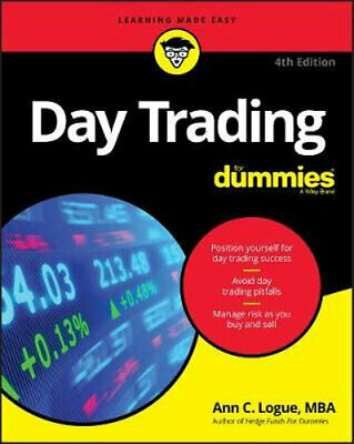 NEW Day Trading For Dummies By Ann C. Logue Paperback Free Shipping