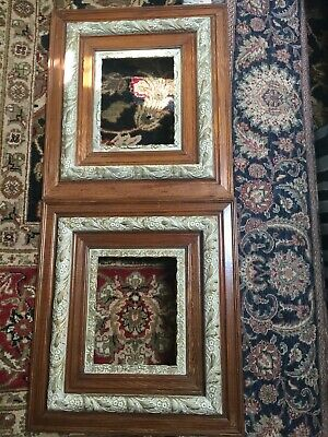 "Pair of Ornate Oak wood & Plaster gesso Picture Frames 18x20"" Deep 3D"