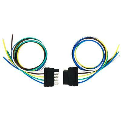 bw#a tirol vehicle+trailer wiring harness kit 5 way flat connector 18 awg