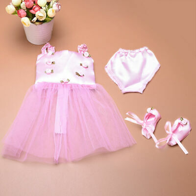 Doll Clothes Ballet Ballerina Outfit Fit Girl &  18 Inch Dolls W0F6