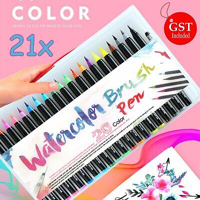 20 Colours Watercolor Brush Pens Art Marker Drawing Painting Brush Artist Sketch
