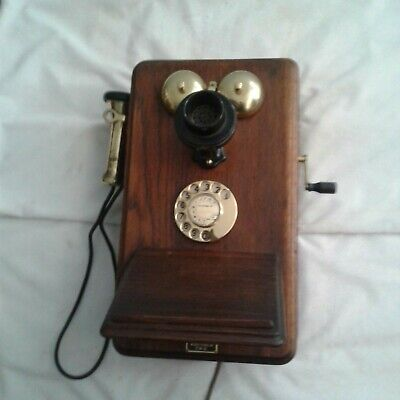 Vintage Telephone British Ericsson Dial Wall Phone C1935  in working order