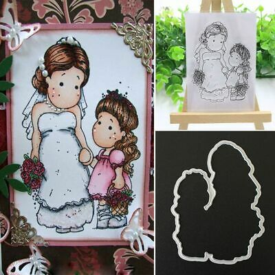Album Decor Cutting Dies Stencils Girl Clear Stamps Embossing Scrapbooking