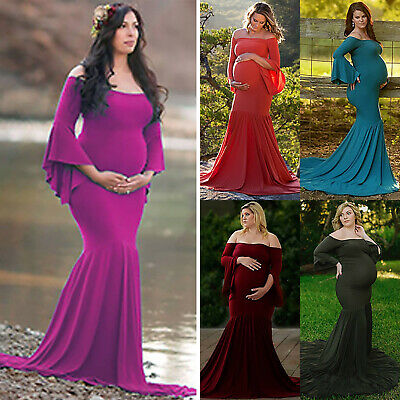 Pregnant Women Lace Maternity Long Maxi Dress Gown Photography Photo Shoot Prop