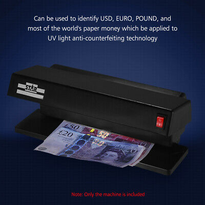 Multi-Currency Counterfeit Bill Detector Ultraviolet Dual UV Light Tester AU