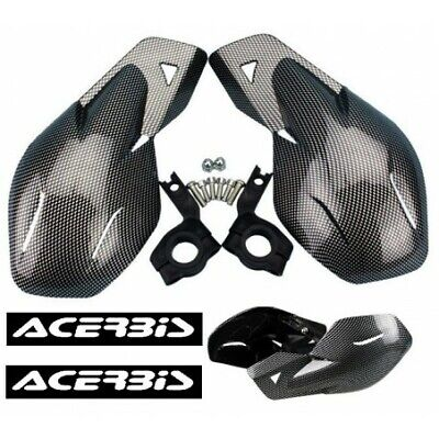 Protection main Carbon noire Stickers Pour Motos Moto-guzzi Terra moto