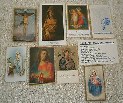 Bulk Lot of Nine Religious Items - Cards, Holy Cards, Prayers
