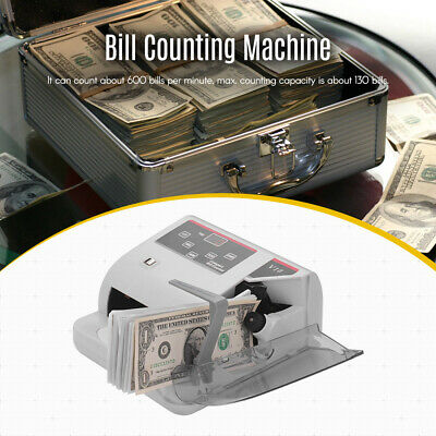 Portable Money Counter Multi-Currency Cash Banknote Bill Counting Machine N8G0