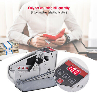 Mini Money Counter Bill Cash Banknote Currency Counting Machine LED Display AU