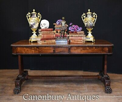 Antique Writing Table - William IV Desk Rosewood 1830