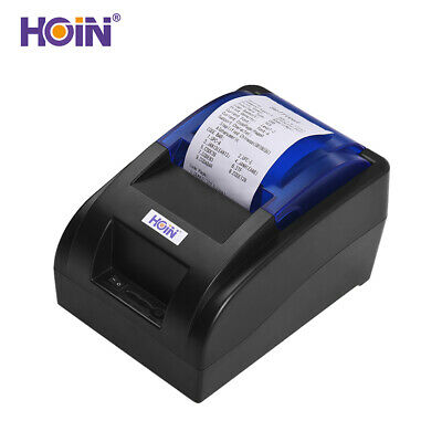 HOIN USB Portable 58mm Thermal Receipt Printer Ticket Bill Wired Printing W2A6