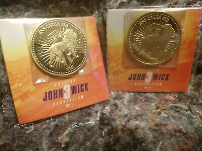 John Wick Chapter 3 Parabellum Official Promo Coins (2)
