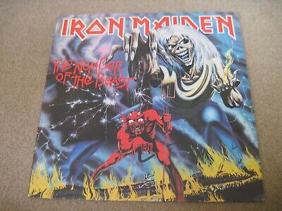 IRON MAIDEN The Number Of The Beast & INNER 1982 EMI  superb EX