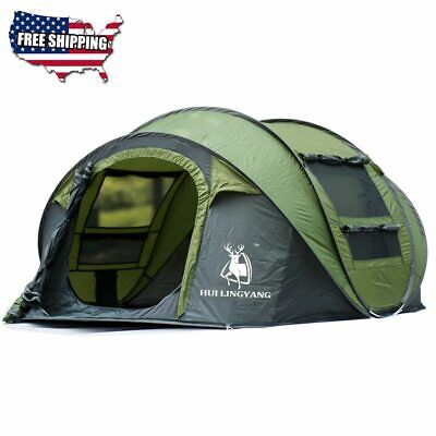 Tent Camping Large Throw Outdoor 3-4 Persons Automatic Speed Open Throwing Pop