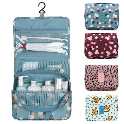 WOMEN Wash Bag Toiletry handbag Hanging Travel Case Cosmetic Make Up Pouch Kit