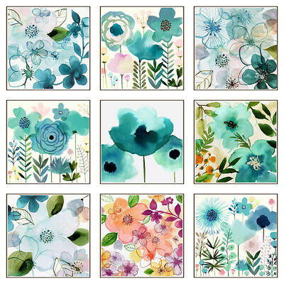 Flower Oil Painting Canvas Poster Print Unframed Picture Wall Home Art Decor