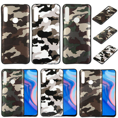 Ultra Thin Camouflage TPU Silicone Case Cover For Huawei P20 P30 Pro/Y5 Y6 Y7 Y9