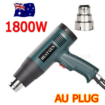 NEW 220V-240V 1800W Electric Heat Gun Degree Temperature Adjustable Hot Air AU