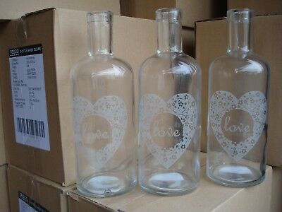 Wholesale Joblot 24 Love Clear Vases Liquidated Bankrupt Clearance Stock Caroot