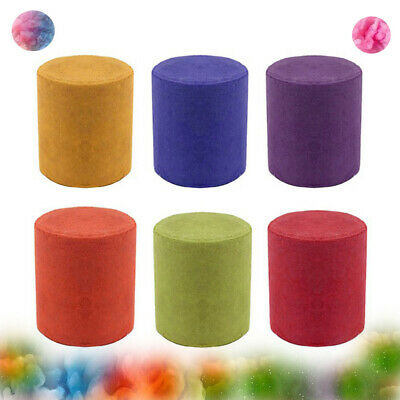 6Pcs Smoke Cake Colorful Smoke Effect Show Round Bomb Stage Photography Aid Toy