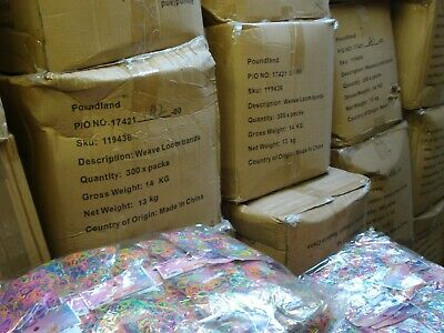 Liquidated Carboot Joblot 40 Bags Of 600 Loom Bands Bankrupt Stock Clearance