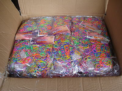 24000 Loom Bands Liquidated Clearance Stock Bankrupt Sale Carboot Goody Bag Gift