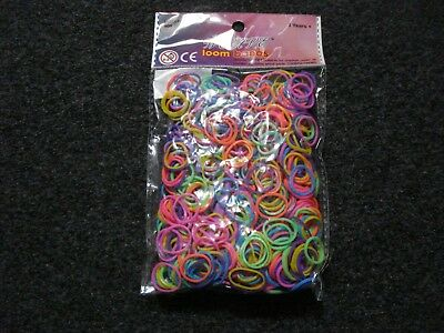 40 X Packet Bag Of 600 Loom Bands Liquidated Wholesale Bankrupt Clearance Stock