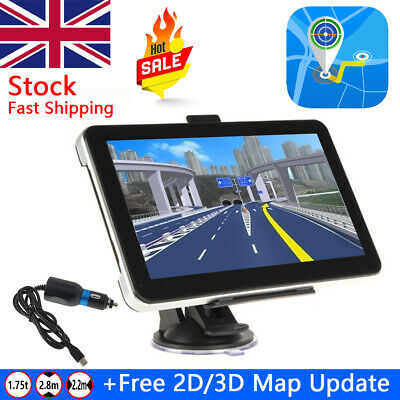 "5"" SAT NAV 8GB Car Truck HGV LGV GPS Navigation Free UK EU Lifetime POI Map"