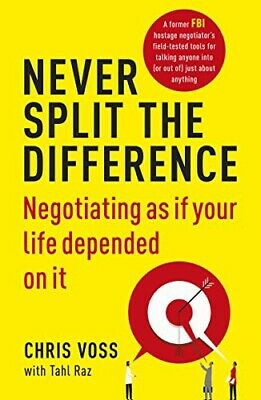 New Never Split the Difference: By Chris Voss (Paperback) Free Postage